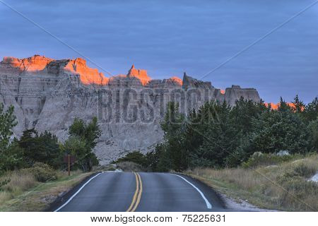 Badlands Loop Road Early In The Morning