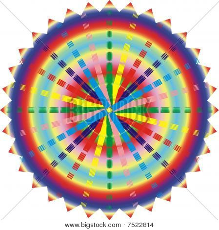 Illustration Of Esoteric Mandala Rainbow