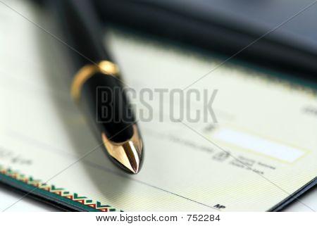 Checkbook pen