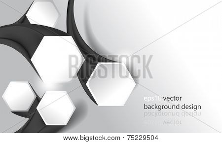 eps10 vector three-dimensional hexagon frames business background