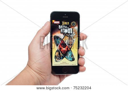 Marvel X-men Battle Atom on iPhone 5S