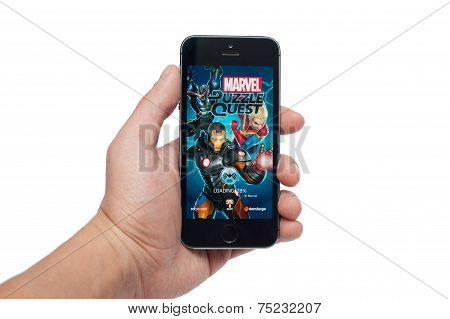 Marvel Puzzle Quest  on iPhone 5S