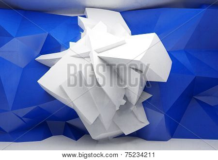Abstract 3D Background With Chaotic Polygonal Structure