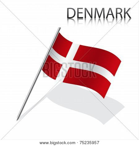 Realistic Danish flag