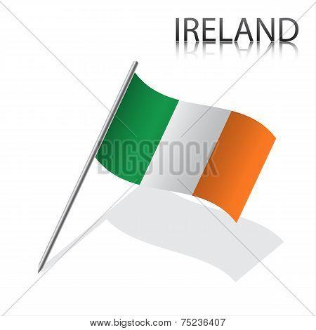 Realistic Irish flag