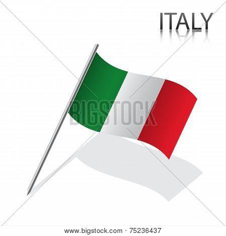 Realistic Italian flag