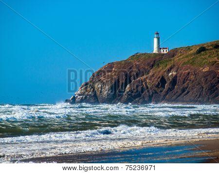 North Head Lighthouse On The Washington Coast Usa