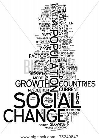 Word Cloud Social Change