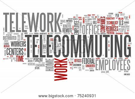 Word Cloud Telecommuting