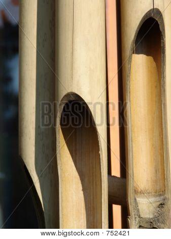 bamboo wind player closeup