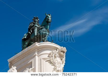Statue Of King Jose I In Lisbon, Portugal