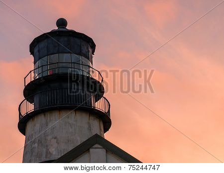 Cape Disappointment Lighthouse At Sunset On The Washington Coast Usa