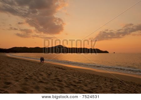 Romantic beach sunset