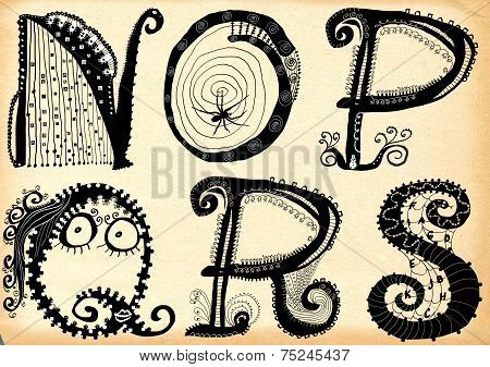 Curly Playful Alphabet - N To S
