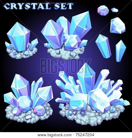 Vector set of crystals for design