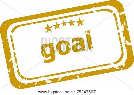 Goal Rubber Stamp Over A White Background