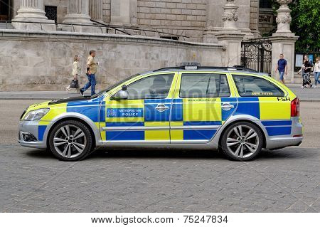 London Metropolitan Police vehicle