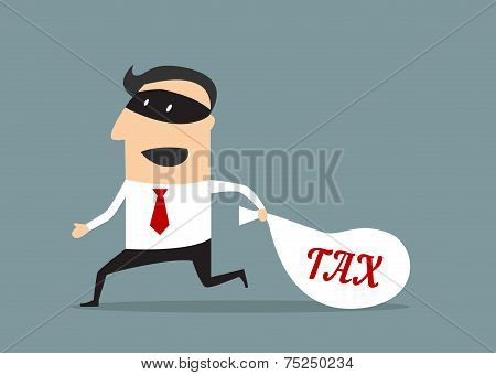 Businessman stealing tax money