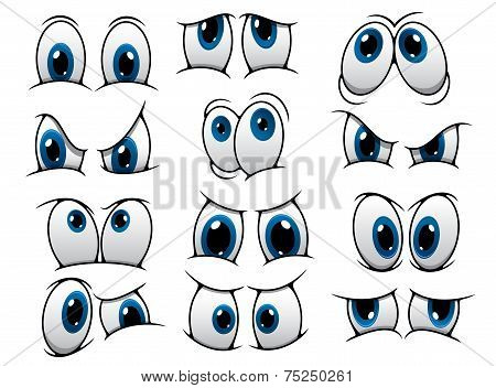Funny cartoon eyes set