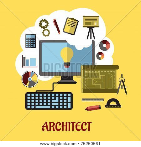 Architect or education concept