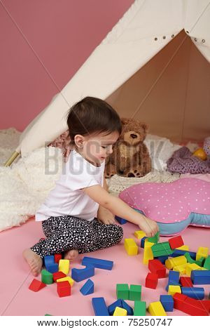 Child Play: Toys, Building Blocks And Teepee Tent
