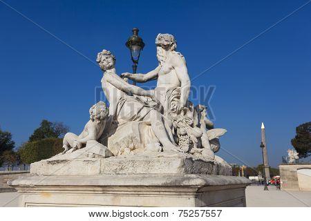 Statue In The Tuilleries, Paris, Ile-de-france, France