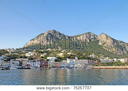 Marina Grande On The Island Of Capri, Italy Viewed From The Water