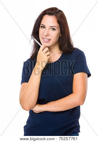 Woman think of something