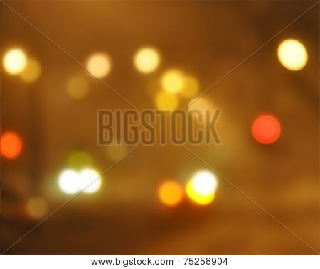 abstract bokeh lights in vintage style