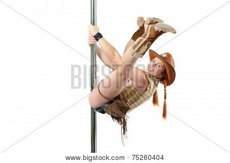Cowgirl On A Pole