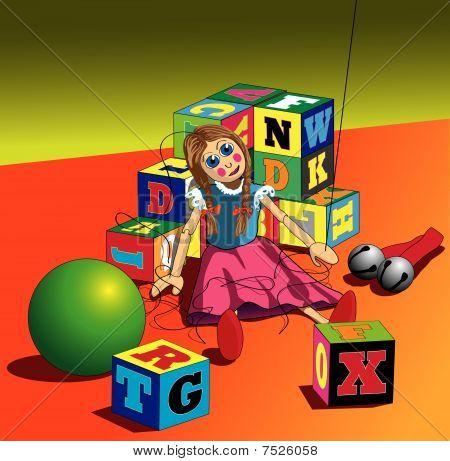 Puppet with broken strings Illustration : Bigstock