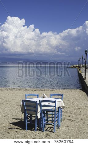 Chair In Greek Taverna