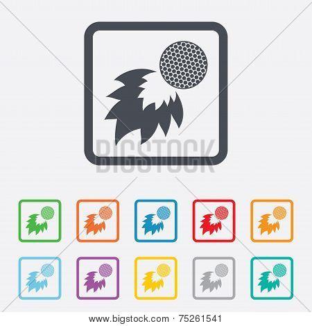 Golf fireball sign icon. Sport symbol.