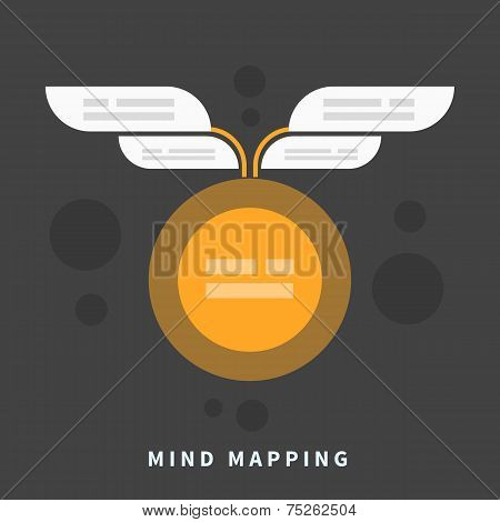 Mind map template with place for your content