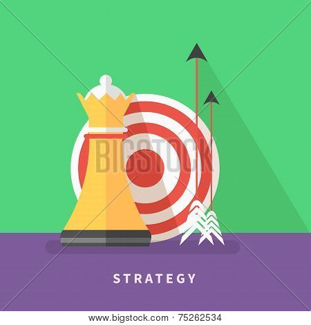 Concept for business strategy and mission