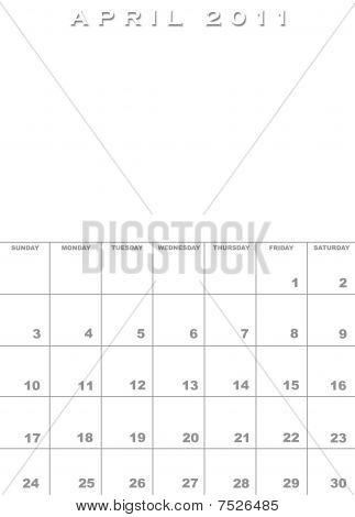 free april 2011 calendar template. 2011 april calendar template.