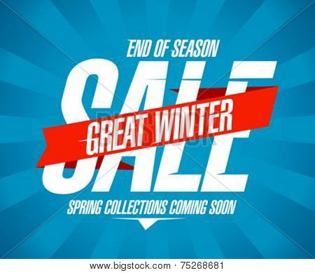 Great winter sale design in retro style.