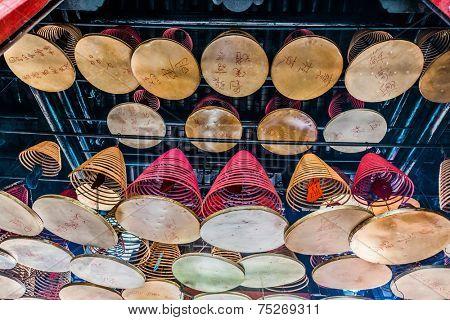 kowloon, Hong Kong, China- june 9, 2014: Tin Hau Temple Tsim Sha Tsui Kowloon in Hong Kong