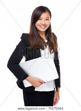 Singaporean businesswoman with laptop