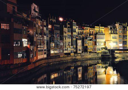 Colorful houses of Girona, Spain