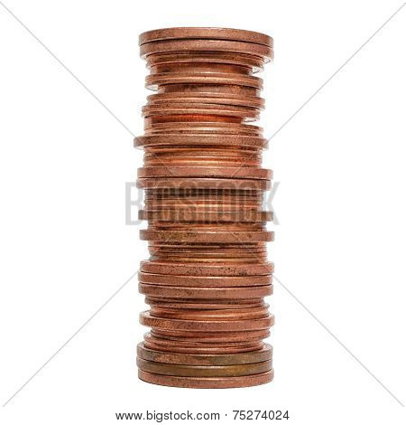 Coins Stack Pile Isolated