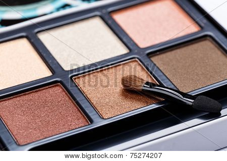 Eyeshadow palette brown colors