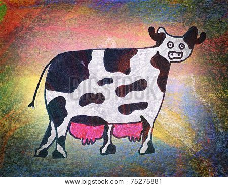 Children's Drawing Of A Cow
