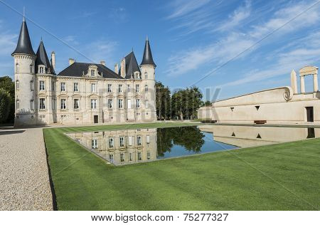Chateau Pichon-longueville With Pond Pauillac