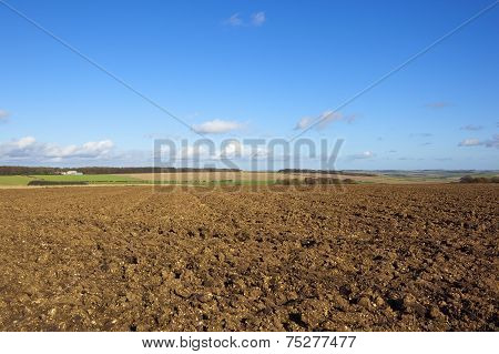 Plowed Fields In Autumn