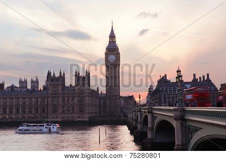 Big Ben in the evening