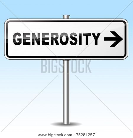 Generosity Sign