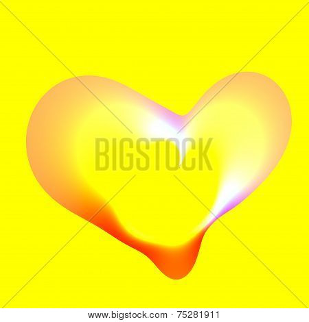 Heart Bubble Isolated On Yellow Background - Artsy