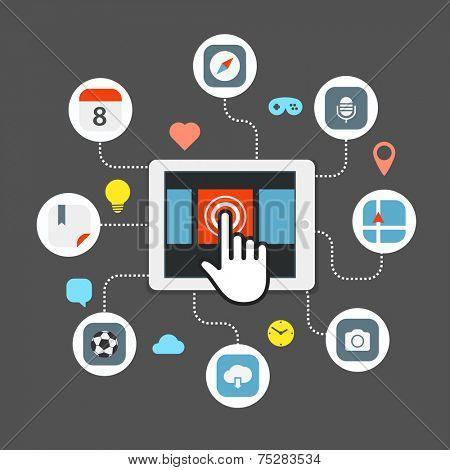Web browser information transfer concept