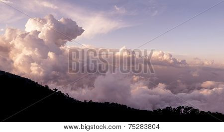 Cloudscape Over Troodos Mountains. Cyprus